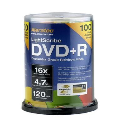 DVD+R LS Rainbow 100-Pack