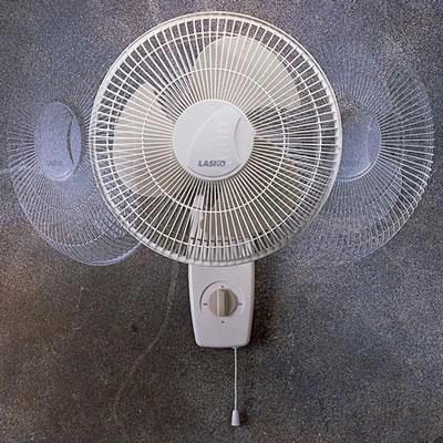 "12"" Oscillating Wall-mount Fan"