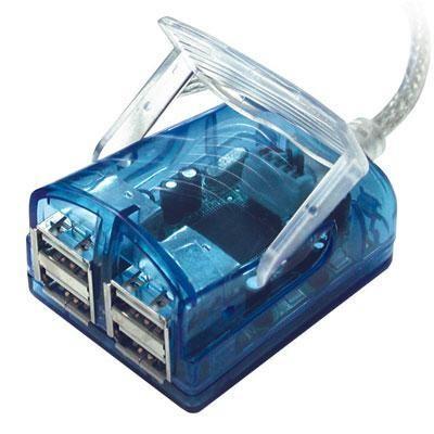 4 Port USB 2.0 Laptp Hub Cable