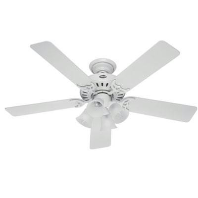 "H 52"" White Ceiling Fan"