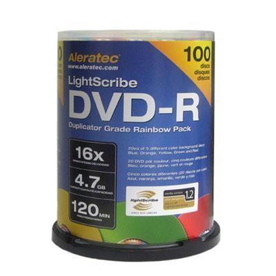 Dvd-r 16x Lightscribe 100 Pk