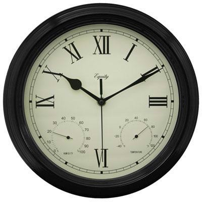 "Elc 12"" Metal Outdoor Clock"
