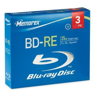 BD-RE 25GB 4x 3Pk Jewel Case