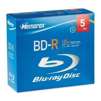 BD-R 25GB 4x 5Pk Jewel Case