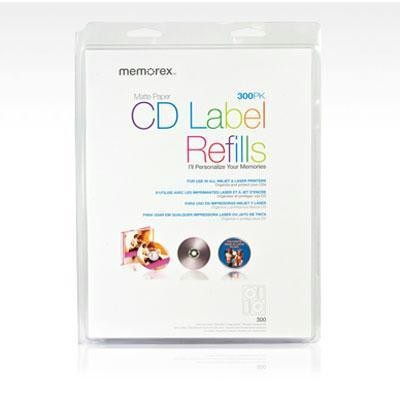 CD/DVD White Matte Labels- 300