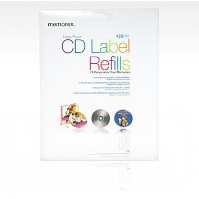 Cd White Matte Labels 120 Pack