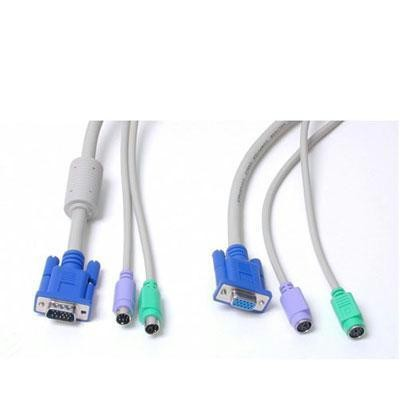 15' 3-in-1 Kvm Extension Cable