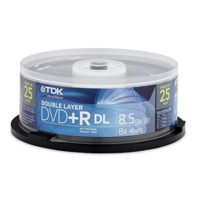 DVD+R Double Layer 8.5GB 25pk