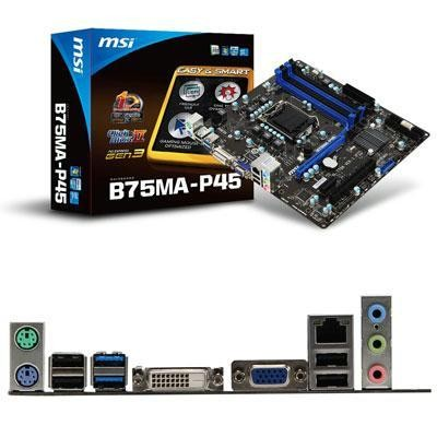 Msi Intel Ivy Bridge B75ma P45