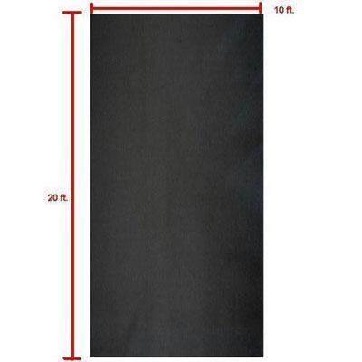 10 X 20 Black Muslin Backdrop