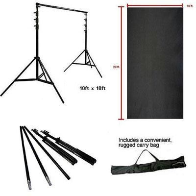 10 Ft Backdrop Supp Stand Blk