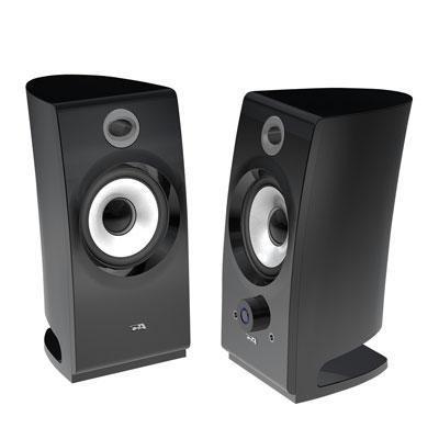 2.0 Black Pedestal Speakers