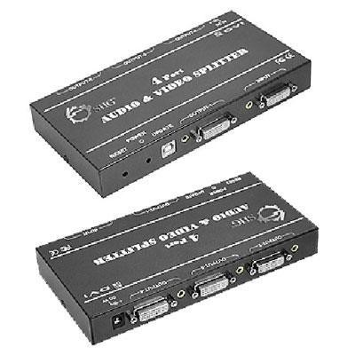 1X4 DVI & Audio Splitter