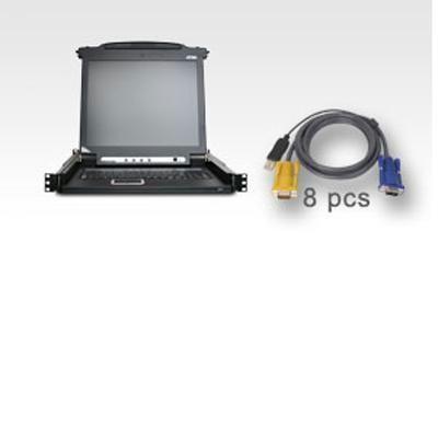 8-port LCD KVM w/ 8-USB KVM Ca