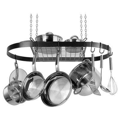 Black Oval Pot Rack
