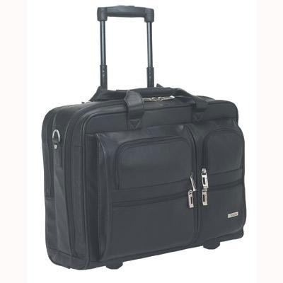 "15.4"" Leather Rolling Case Blk"
