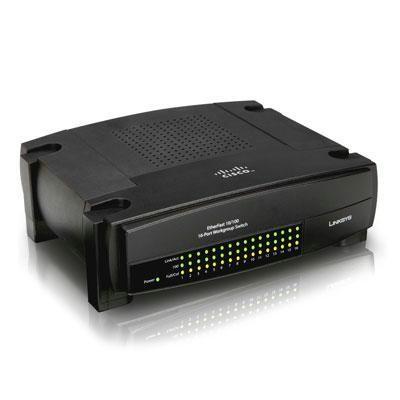 Switch 16-port 10/100mbps Wkgp