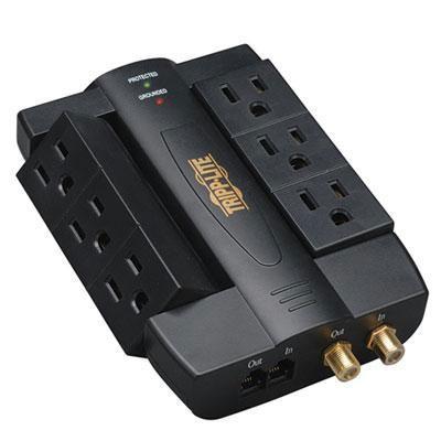 6 Outlet Surge 1200J Coax/Tel