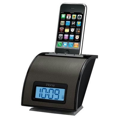 Black Iphone Ipod Alarm Clock