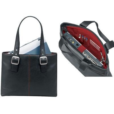 Laptop Tote-black/red