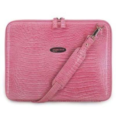 Faux Croc Portfolio Pink