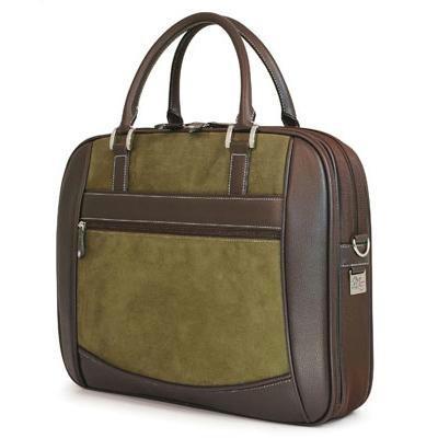 Green Suede Briefcase