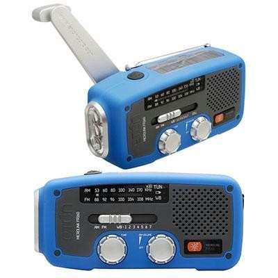 Solar Dynamo Powered Radio Blu