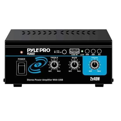 80W Mini Power Amp with USB