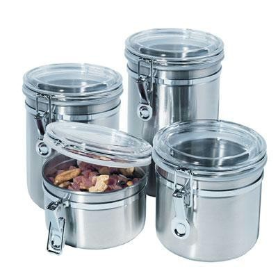 4 Pc Ss Canister Set