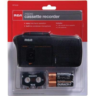 Rca Microcassette Recorder Blk