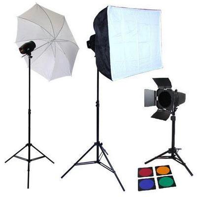 xPhoto Studio 3x 150W Strobe