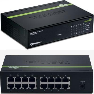 16-port 10/100mbps Greennet Sw