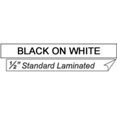 """Black On White 1/2"""" Tape"""
