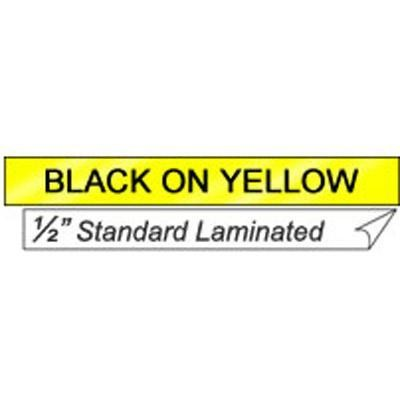 "Black On Yellow 1/2"" Tape"