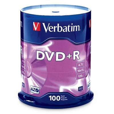 Dvd+r 4.7gb 16x 100 Pack