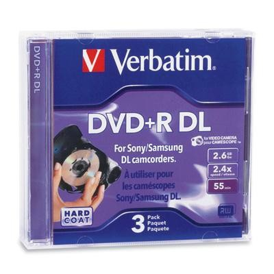Mini Dvd+r Dl 2.6g 3pk