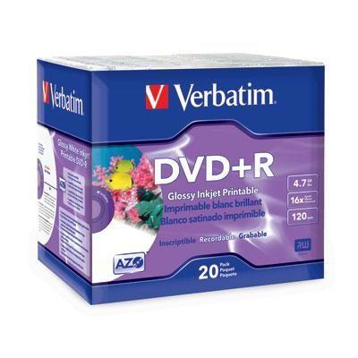 DVD+R 4.7GB 16x Wht Inkjet 20p