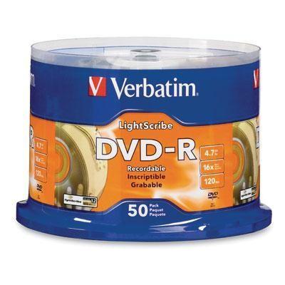 DVD-R 4.7gb 16X Lightscribe 50