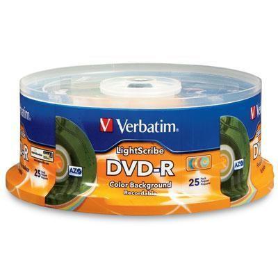 DVD-R Color Ltscribe 25pk Spin