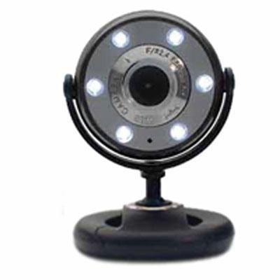 Night Vision Web Cam Black