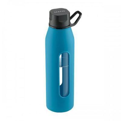 Glass Water Bottle 20oz Blue