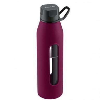 Glass Water Bottle 20oz Purple