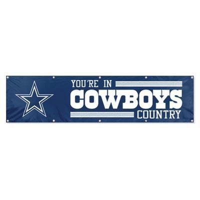 Cowboys 8ft X 2ft Banner