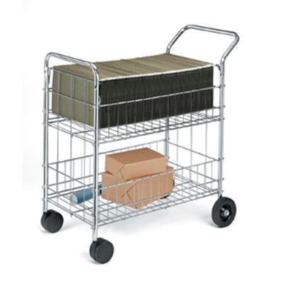 Worcester Mail Cart - Chrome