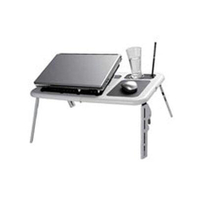 Laptop Table W/fan Wh/bl