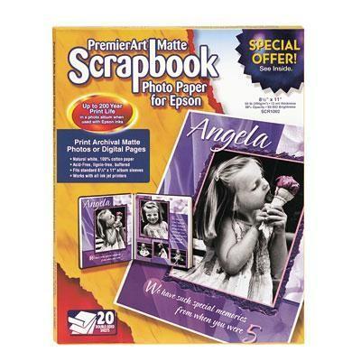 Matte Scrapbook Photo Paper