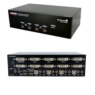 4-port Dual Dvi Usb Kvm Switch